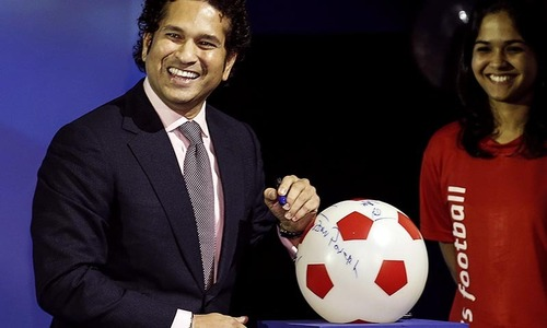 Tendulkar backs Indian football league