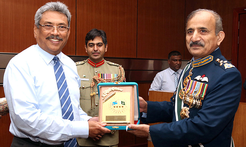 PAF chief meets Sri Lankan military leadership