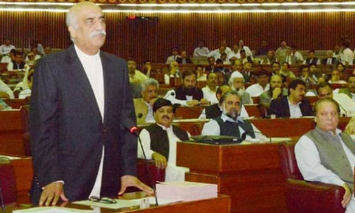 Khurshid Shah thunders in Parliament, pledges support to govt
