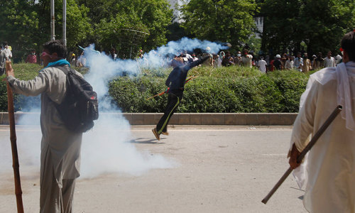 Conflict: Tear gas, batons and rubber bullets across Red Zone