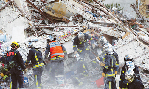 Building collapses in Paris suburb; four killed