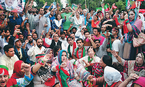 Imran for continuing sit-ins even after 'his arrest'