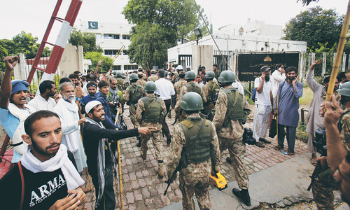 Riot zone mob storms PTV