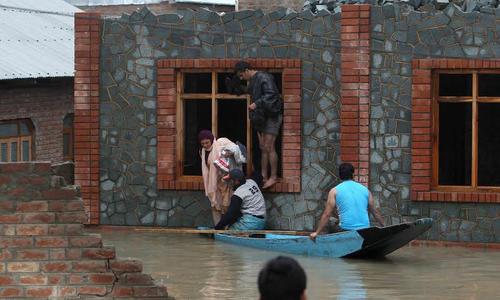 Flood alert in Kashmir, 70 feared dead