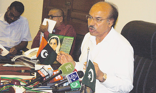 Khuhro tells protesters to end agitation, wait for court ruling
