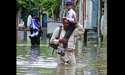 Low-lying areas in Pindi inundated