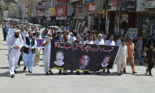 Journalists close Quetta press club to mourn killing of colleagues
