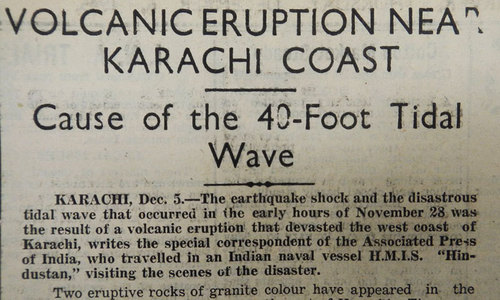 1945: Tsunami strikes Karachi coast, killing 4,000
