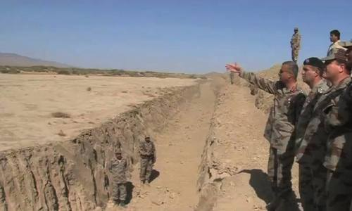 Trench dug at Pak-Afghan border to stop infiltration of terrorists