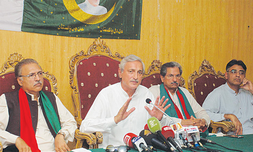 Thousands of PTI workers arrested, claims Tareen