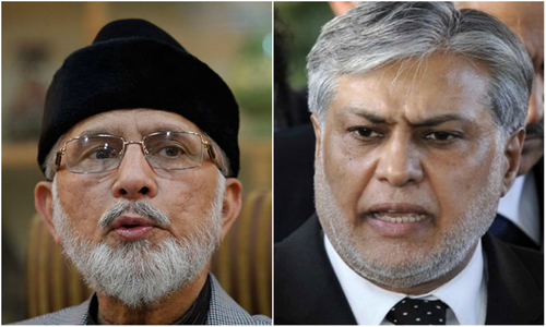 Dar warns Qadri against 'misleading' people on scribbling notes