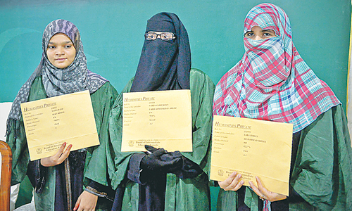 Girls get top positions in humanities group exam