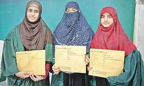 Girls get top positions in humanities group exam