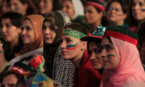PTI wants more women at its Friday gathering