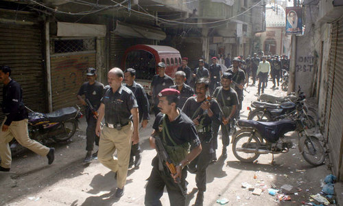 Police claim killing seven suspected terrorists in Karachi