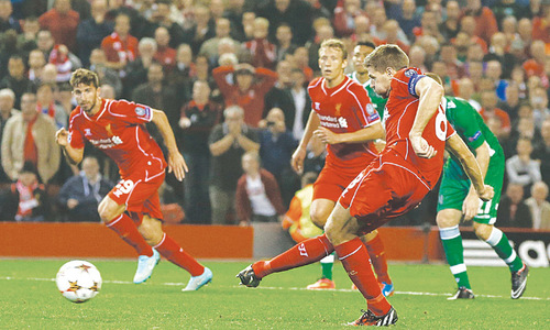 Real start CL defence in style as Gerrard rescues Liverpool