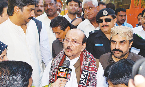 Flood poses no threat to population, dykes, says Qaim