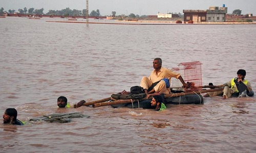 Water levels continue to rise at Guddu barrage