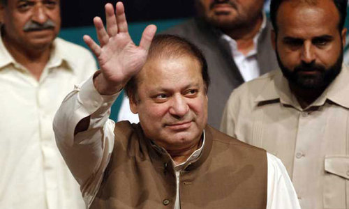 Sharif gets some last pledges, and digs, in parliament