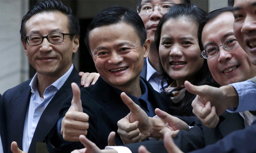Alibaba raises record $25bn in Wall Street debut
