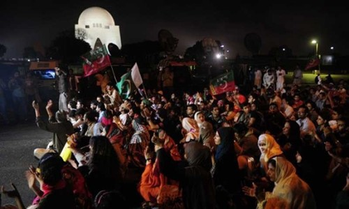 PTI show in Karachi