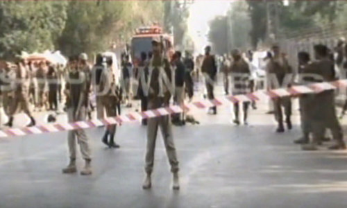 Three killed in Peshawar blast targeting FC convoy