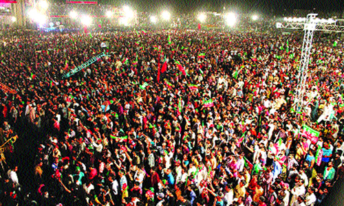 PTI aiming to bring 300,000 people to Minar-i-Pakistan