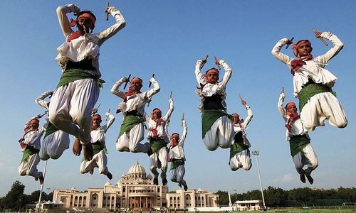 Hindus celebrate Navratri and Durga Puja festival