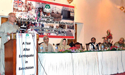 Malik says all resources will be used to help quake-hit Awaran people
