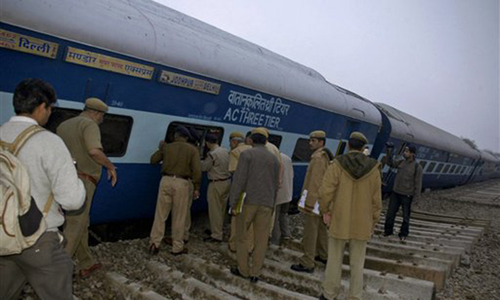 12 dead as trains collide in northern India