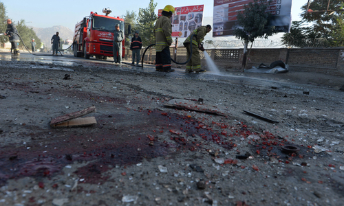 Seven killed as twin suicide attack hits army buses in Kabul