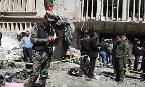 Deadly twin blasts near school in Syria's Homs