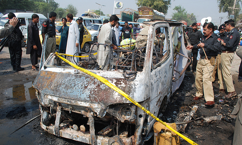 Seven killed, 11 injured in Peshawar bus explosion