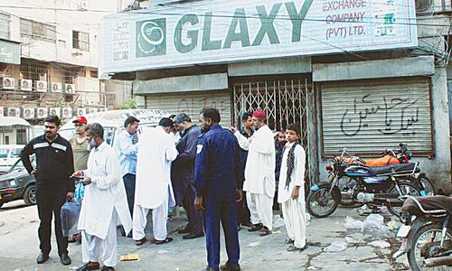 Burglars take away Rs9.5m from money exchange outlet