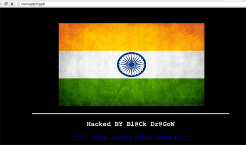 Indian hackers deface PPP website
