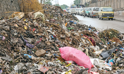 Cantt areas stink of piled up garbage