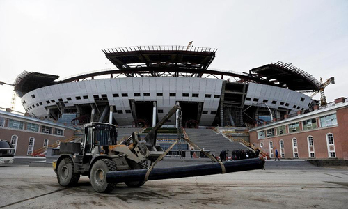 FIFA say 2018 WCup final arena 'ahead of schedule'