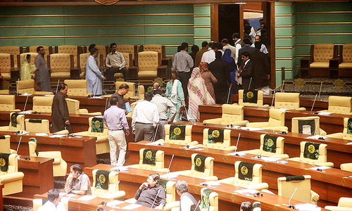 MQM stages walk out from Sindh Assembly
