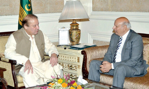 Nawaz calls on Sarwar