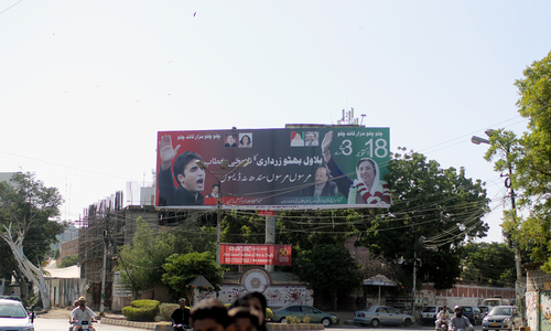 For Karachi's political parties, billboards are 'free'