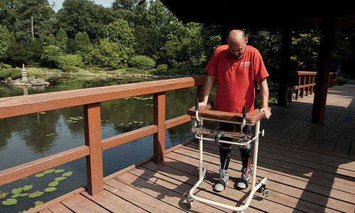 Paralysed man walks again after breakthrough treatment