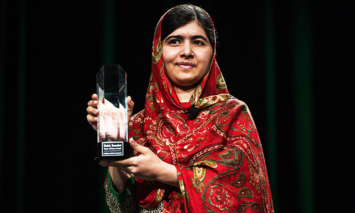 Malala Yousufzai honoured with Liberty Medal