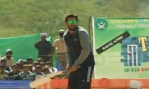 'Afridi-11' win exhibition match in Bannu camp for displaced