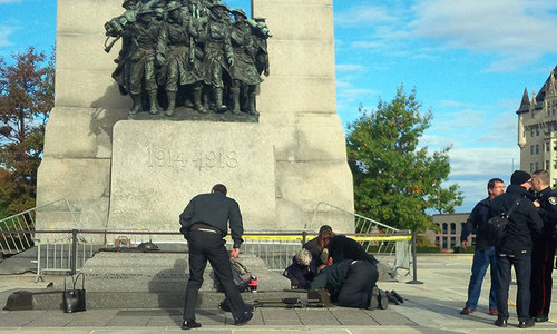 Canada parliament locked down after soldier shot