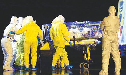 Sindh gets 15 sets of Ebola protective gear