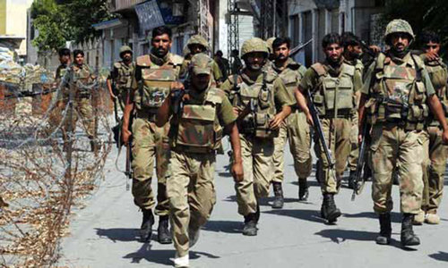 Six suspected militants killed as forces continue operation in Khyber