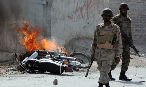 Two killed, six injured as FC vehicle targeted in Quetta blast