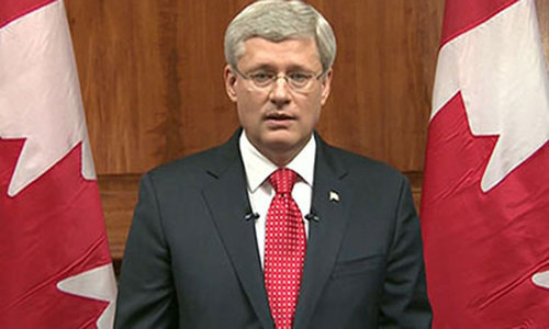 Canada's Harper pledges tougher security laws after attack