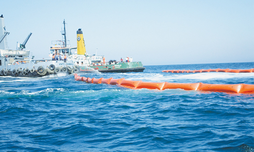 Oil spill simulation exercise held