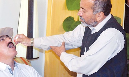 Tribal elders take polio drops, join eradication campaign
